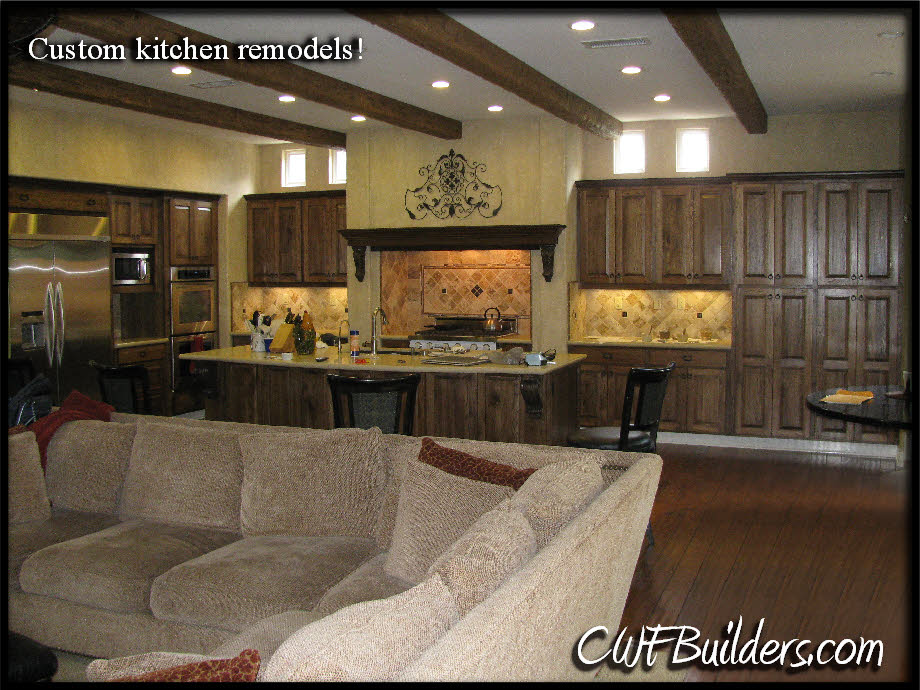 charming Kitchen Remodel Santa Clarita #9: Spanish look to it, with wrought iron lamps, balcony railings, corbeled  rafter tails, etc. The new kitchen cabinets were also old world in design  with ...
