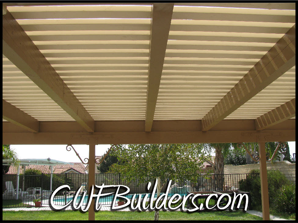 shade bars with 16D galvanized gun nails, which has great holding power. - Patio Covers And Decks Santa Clarita - Christopher French Construction
