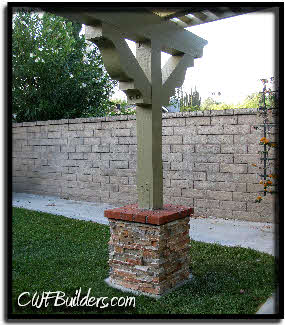 This Patio Was Created With Long Spans Between Posts, About 17 Feet.  Although The Footings Were Deeper With More Concrete To Carry The Load, ...